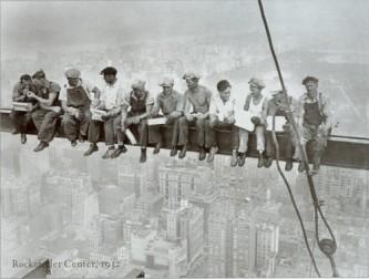 I famosi operai che costruirono il Rockfeller Center